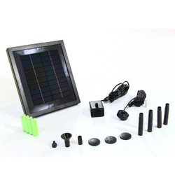 "Sunnydaze Solar Pump and Solar Panel Kit With Battery Pack w/ LED Light - 47"" Lift"