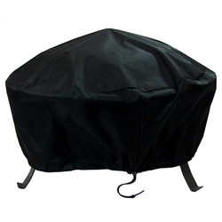 """48"""" Round Black Fire Pit Cover"""