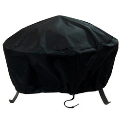 "Heavy Duty 36"" Black Round Fire Pit Cover"
