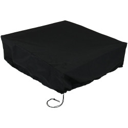 "48"" x 18"" Heavy Duty Square Black Fire Pit Cover"