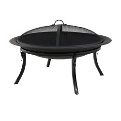 Sunnydaze Portable Camping Fire Pit with Carrying Case