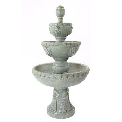 Sunnydaze Four Tier Lion Head Water Fountain