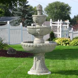 Sunnydaze Four Tier Lion Head Water Fountain