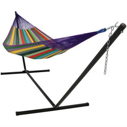 Sunnydaze Matrimonial Mayan Hammock and Stand Combo - MultiColor