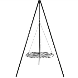 "Firepit Tripod Grill with 22"" Cooking Grate by Sunnydaze"