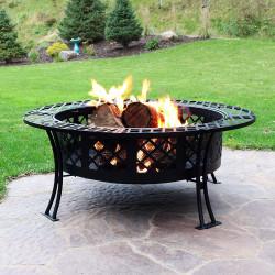 Sunnydaze Diamond Weave Fire Pit