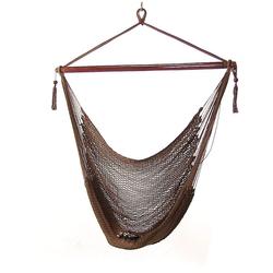 Sunnydaze Mocha Hanging Caribbean XL Hammock Chair