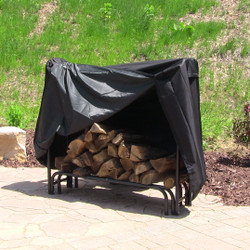 Sunnydaze Heavy Duty 4-Foot Firewood Log Rack Cover