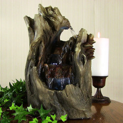 Cascading Caves Waterfall Tabletop Fountain w/ LED Lights by Sunnydaze