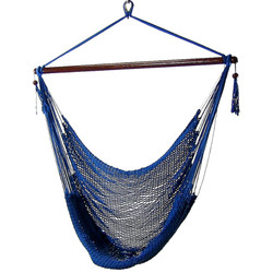 Sunnydaze Blue Hanging Caribbean XL Hammock Chair