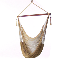Sunnydaze Tan Hanging Caribbean XL Hammock Chair