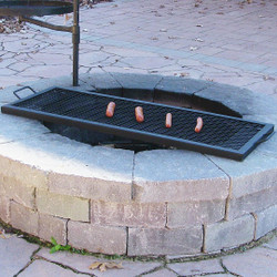 "40"" Rectangle Fire Pit Cooking Grill"