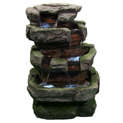 Large Rock Quarry Fountain w/LED Lights by Sunnydaze Decor
