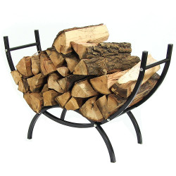 "Sunnydaze 36"" Curved Firewood Log Rack"