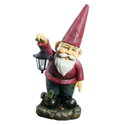 "Sammy the Solar Lantern Gnome, 29"" by Sunnydaze Decor"