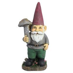 "Marty the Mushroom Gnome, 20"" by Sunnydaze Decor"