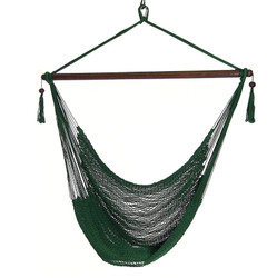 Sunnydaze Green Hanging Caribbean XL Hammock Chair