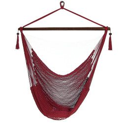 Sunnydaze Red Hanging Caribbean XL Hammock Chair