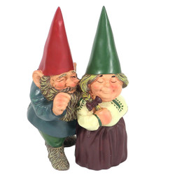 """Arnold and Sarah Get Married Gnome, 8.5"""" Tall by Sunnydaze Decor"""