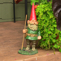 "Woody Jr. the Gnome, 13.5"" Tall by Sunnydaze Decor"
