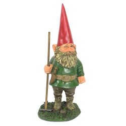 """Woody Jr. the Gnome, 13.5"""" Tall by Sunnydaze Decor"""