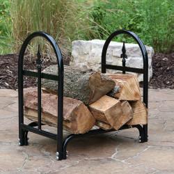 "Sunnydaze 24"" Decorative Firewood Log Rack"