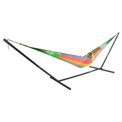 Sunnydaze Family Mayan Hammock and Stand Combo - MultiColor