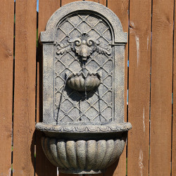 Sunnydaze Venetian Outdoor Wall Fountain - French Limestone
