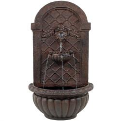Sunnydaze Venetian Outdoor Wall Fountain - Weathered Iron