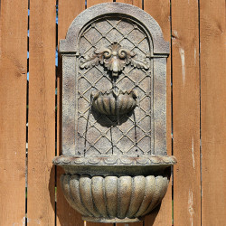 Sunnydaze Venetian Solar-On-Demand Outdoor Wall Fountain - Florentine Stone