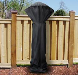 """Sunnydaze 94"""" x 38"""" Black Patio Outdoor Heater Cover"""