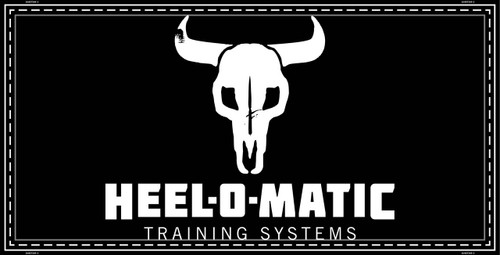 "Image of a cow skull with the text ""Heel-O-Matic Training Systems."" - Heel-O-Matic"
