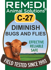 Diminish Bugs & Flies for Cattle, C-27