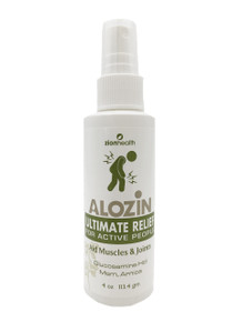 Zion Health Alozin Spray-on Muscle Pain Relief 4 oz