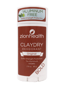 Zion Health Clay Dry Bold Deodorant Stick 2.8 oz Original