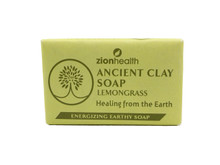 Zion Health Ancient Clay Soap Lemongrass 6oz, 170g