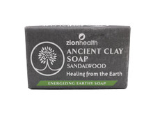 Zion Health Ancient Clay Soap 6oz, 170g Sandalwood