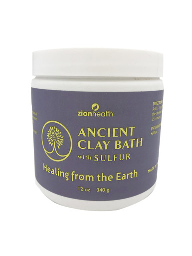 Zion Health Clay Bath Skin Detox 16 oz Sulfur