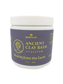 Zion Health Clay Bath Skin Detox 16 oz Sulfur