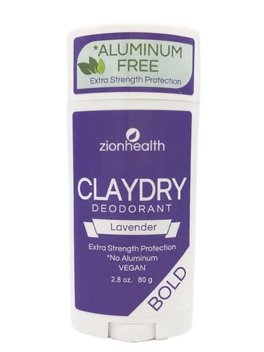 Zion Health Clay Dry Bold Deodorant Stick 2.8 oz Lavender