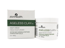 Zion Health Ageless Clay SC Night Cream 2 oz Apple Stem Cells