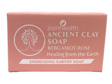 Zion Health Ancient Clay Soap 6oz Bergamot Rose
