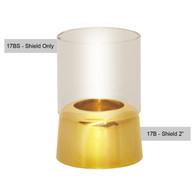 "Glass Shield for Brass Draft Proof 2"" Burner [Each]"