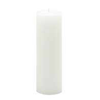 3 x 12 White Advent Pillar