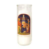 Christmas - Glory to the New Born King Holiday Lights Icon Decal
