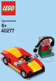 LEGO Car and Gas Station Mini Build Parts & Instructions Kit