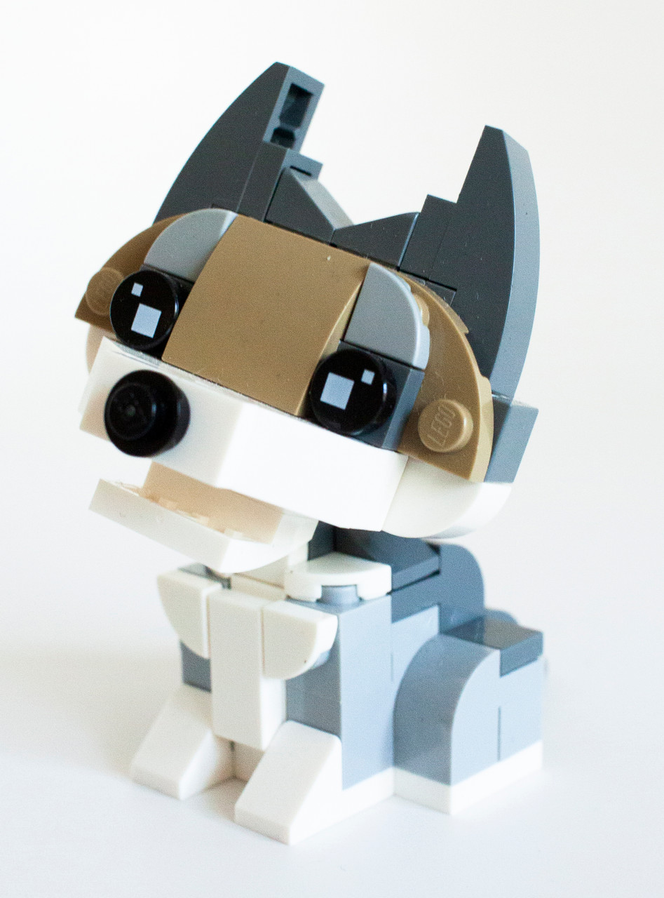 Constructibles Baby Wolf Mini Build Lego Parts Instructions Kit Constructibles