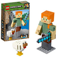 LEGO Minecraft Alex BigFig with Chicken 21149 Building Kit, 2019 (160 Pieces)