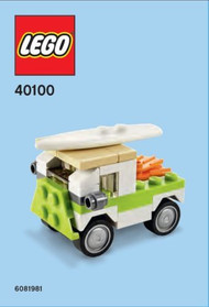 Constructibles® Surf Van Mini Model LEGO® Parts & Instructions - 40100