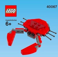 Constructibles® Red Crab LEGO® Mini Build Parts & Instructions Kit - 40067